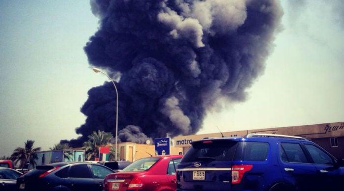 Massive Fire In Dubai's Al Quoz 3