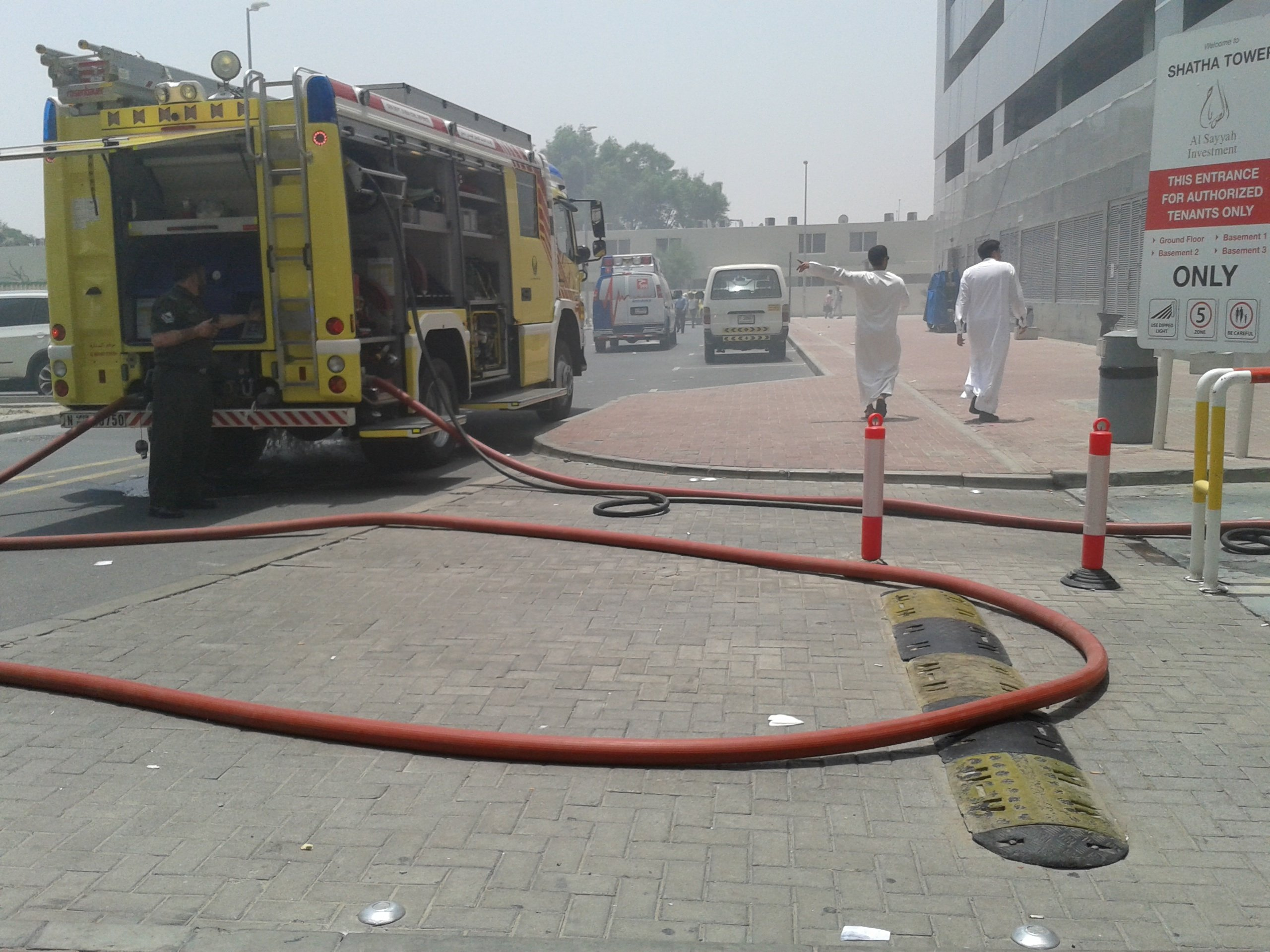 Pictures: Fire In Dubai Media City Building
