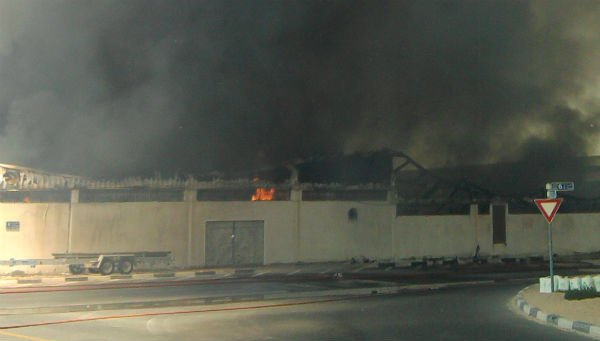 Pictures: Warehouse In Flames In Dubai's Al Quoz 3 Area