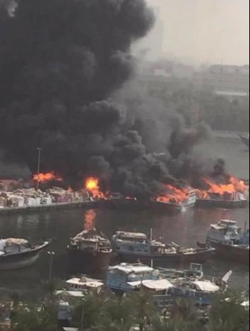 Major fire breaks out on Dubai Creek boats